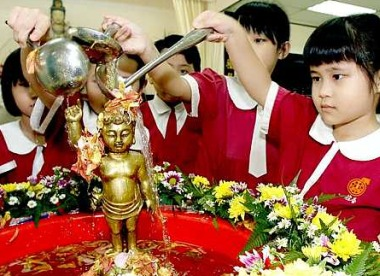 Image result for bathing baby buddha