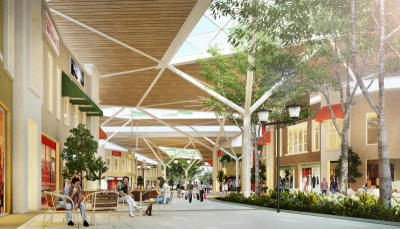 <b>Retail therapy:</b> An artist's impression of the recently opened first phase of the Mall of Medini.