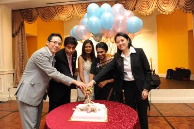 Committed lot: (From left) Chan, Jitinder, GE's human resource director Sugunah Verumandy, Ramani
