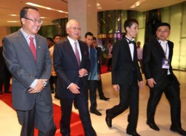Najib arriving at the reception