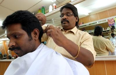 Indian hair cutting salon