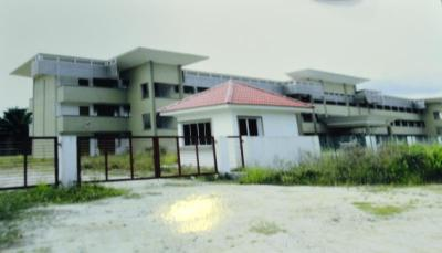 To be completed: Construction of the new school site was halted due to lack of funds.