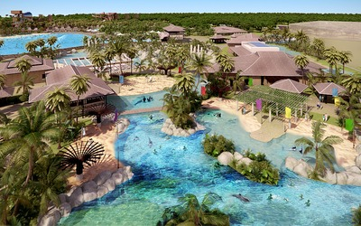 A fun escape: An artist's impression of the Ocean Quest and Ocean Splash marine and
