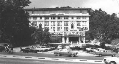 An image from the National Archives showing the Hotel Majestic Kuala