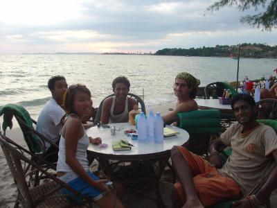 Going places: Tey (front left) during a Couchsurfers reunion in Sihanoukville, Cambodia.