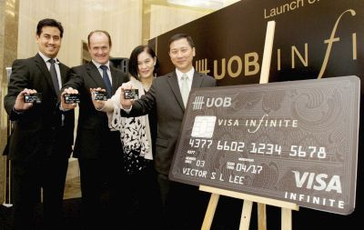 Image result for uob visa infinite launch 2003