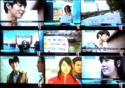 Global impact: E!news Asia's Rooftop prince photo message campaign shows how popular Korean dramas are getting around the world, including in places traditionally not Hallyu crazy.