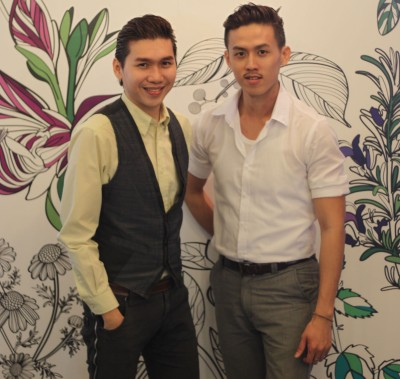 <b>Oasis for hair:</b> Too (left) and Lee's vision is to make Solaio Salon Spa a place for urbanites to take a breather.