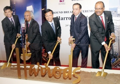 <B>Integrated development:</B> (from left) Tradewinds Corp group chief executive officer Shaharul Farez Hassan, Jerantas