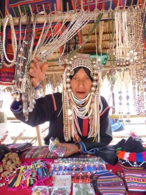 Akha women peddlers at the small